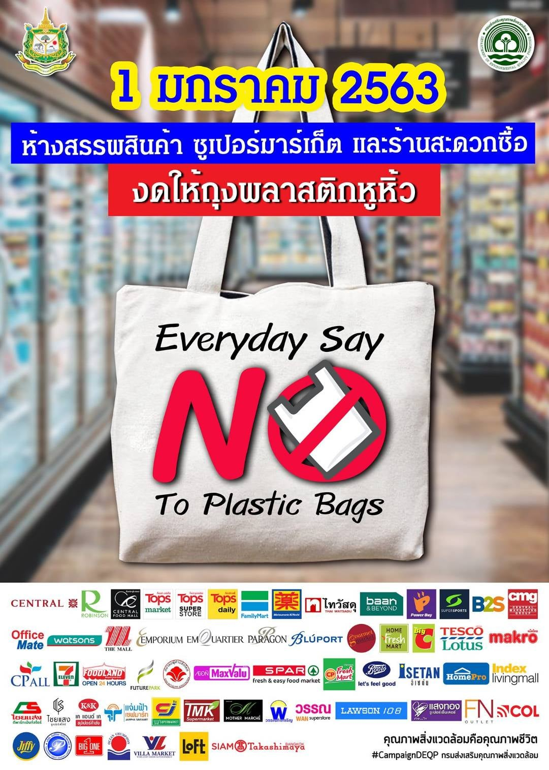 Everyday Say No! To  Plastic Bags
